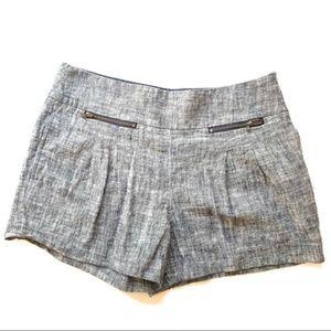 Ann Taylor Loft Linen Zipper Pocket Shorts